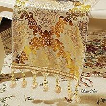 Gehobenen Sie,Luxus-tischläufer/Europäisch,Retro Bett/Tee Tischläufer-A 35x200cm(14x79inch)