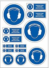 Gehörschutz obligatorisch A4 Sticker Aufkleber B58
