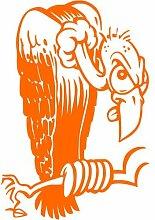 Geier Aufkleber 001, 50 cm, orange