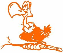 Geier Aufkleber 002, 50 cm, orange