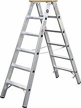 Geis&Knoblauch Stufenstehleiter beidseit. 51704 4 Stufen Sprossenleiter 4039665011850