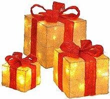 GEK Weihnachtsdeko Päckchen mit LED Beleuchtung,