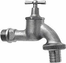 GEKA Wasserhahn 1/2 Zoll MS Chromstahl matt mit