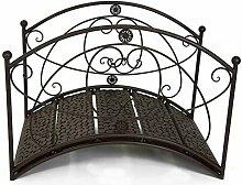 GeKi Trend Gartenbrücke aus Metall Schmiedeeisen