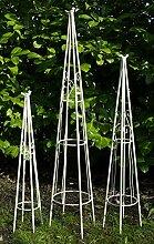 GeKi Trend Obelisk Rankhilfe 3er Set Schmiedeeisen