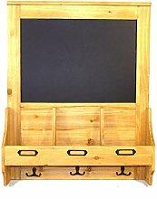 Geko 47 x 10 x 59-cm-Wandtafel mit Haken und