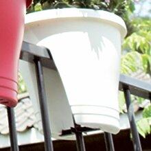 Geländer-Blumentopf, weiß, 30 x 27 cm