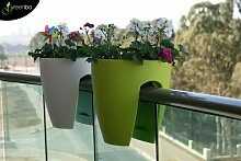 Geländer-Blumentopf