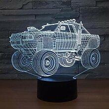 Geländewagen 3D LED Licht Nachtlicht Optische