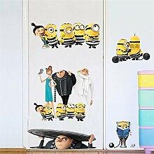 Gelb Cartoon Dekorative Kinder Wandaufkleber Für