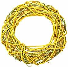 gelb grün Weidenkranz 30 x 30 cm Kranz