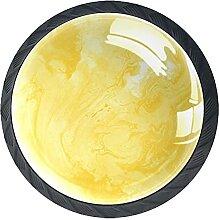Gelb Kristallglas Kommode Schublade Knöpfe
