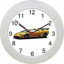 Gelb Lamborghini Wanduhr
