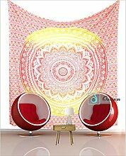 Gelb Ombre Mandala Tapisserie Wand Kunst Hangings Hippie Wandteppiche Dorm Decor