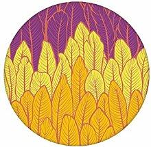 Gelb Rosa Streifentapete mit Feder Motiv angepasst