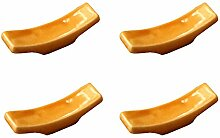 Gelb Set von 4 Keramik Gabel Messerhalter