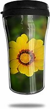 Gelbe Blume Nahaufnahme Reise Kaffeetasse
