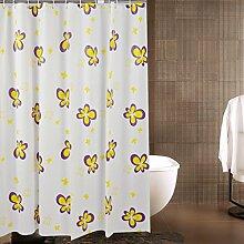 Gelbe Blumen Hochwertige PEVA Wasserdichte