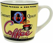 Gelbe Kaffeetasse im Kaffeehaus Style, Tasse, Becher, 230 ml