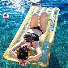 Gelbe Rechteckige Sequins PVC-materielle Sich Hin-