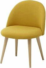 Gelber Kinderstuhl im Vintage-Stil und Massivbirke