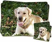 Gelber Labrador -Hund Zwillings Platzdeckchen und