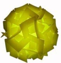 Gelber Quadratischer Lampenschirm, flach,