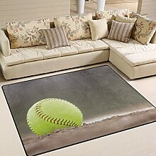Gelber Softball-Teppich 4 'x6',