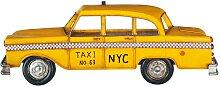 Gelbmetall Taxi Wanddekoration 12x33