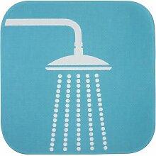 Gelco Design 707102 Badematte, Piktogramm, 50 x 50 cm, Blau