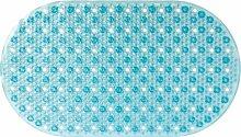 Gelco Design 707114 Badematte, rutschfest, 39x69cm, Blau / Gloss Blue