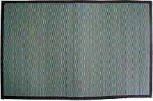 Gelco Design Bahia 703586 Badvorleger, Bambus, kleine Latten, 60 x 90 cm, Blau