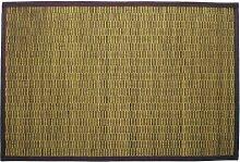Gelco Design Bahia Badvorleger, Bambus, kleine Latten, 60 x 90 cm (703588), Grün