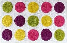 Gelco Design Sweet 707860 Badematte, 50 x 80 cm, mit mehrfarbigen Punkten