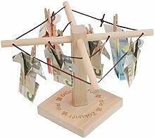 Geld-Wäschespinne mit Gravur (viel Glück): Eine