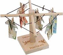 Geld-Wäschespinne zur Hochzeit: Eine kreative