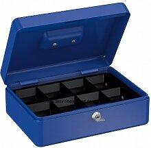 Geldkasette BLAU 250x180x90mm Kasse Tresor Safe