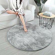 Geling Teppich Rund - Hochflor, Langflor Modern