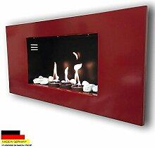 Gelkamin Kaminofen Modell Roma Rot + gratis 12 Deko Steine