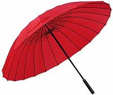 Gelory Stahl-Reise-faltender Sonnenschutz-Regenschirm Automaitc windundurchlässiger Regenschirm mit Vinyl gedrucktem im Freien und Auto-Gebrauch für Damen oder Männer (Red)