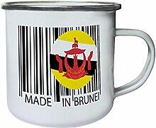 Gemacht in brunei reise welt lustige neuheit Retro, Zinn, Emaille 10oz/280ml Becher Tasse tt93e