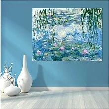Gemälde auf Leinwand, Motiv: Wasserlilie,