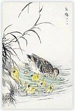 Gemälde Duck with Chicks