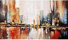Gemälde Reflektion