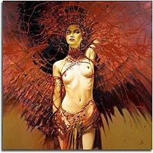 Gemälde Strass Nude Beauty Stickerei mit