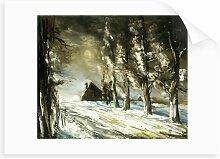 Gemälde Winter Countryside Alpen Home Format: