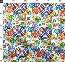 Gemalt, Wasserfarben, Kreise, Stoff, Tapete,