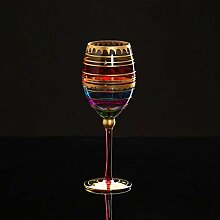 Gemaltes Rotweinglas Becher Home Glas Wein Set