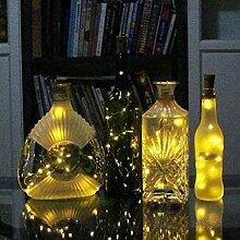 Gemini _ Mall® LED Flasche Kork Lichter, 59in (1,5m)/78.7in (2m) Kupfer Draht Lichterkette mit 15/20warm weiß LED Leuchtmittel für Flasche DIY Decor, Outdoor BBQ, Gathering, Party, Hochzeit, Urlaub, Weihnachten, Kupferdraht, warmweiß, 59in(1.5m)