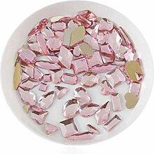 Gemischte Form 100 Stück Crystal AB 3D Nail Art